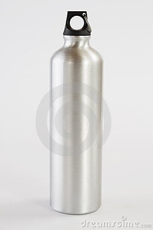 Free Grey Metal Water Flask Royalty Free Stock Image - 9215096