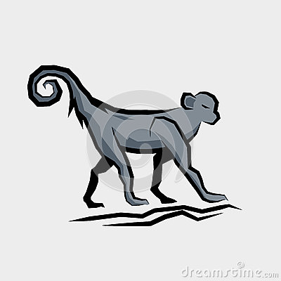 Grey Monkey Vector