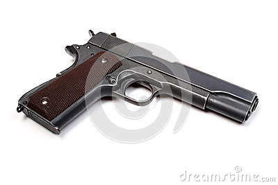Grey pistol.