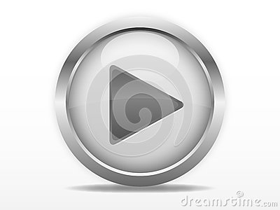Grey play button Vector Illustration