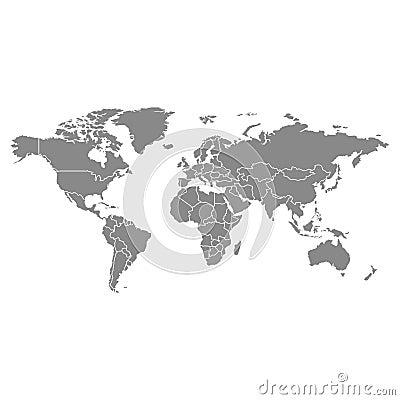 Grey political world map illustration vector illustration grey political world map illustration vector illustration gumiabroncs Choice Image