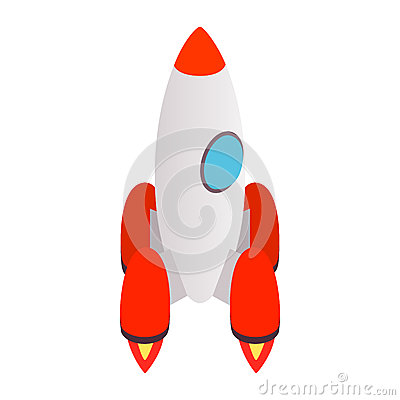 Free Grey Rocket Icon, Isometric 3d Style Royalty Free Stock Photography - 78682797