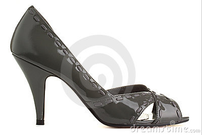 Grey shoe.