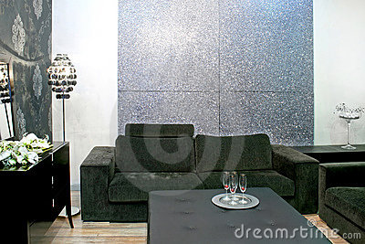 Grey sitting area