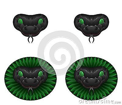 Grey snake head Vector Illustration