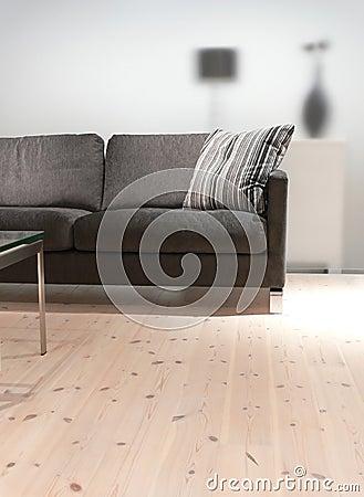 Grey Sofa with Pillow