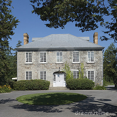 Grey stone Manor house