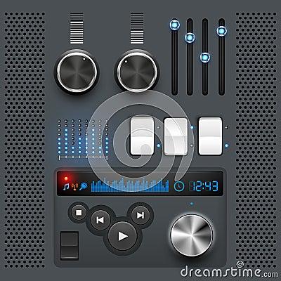 Grey GUI User Interface