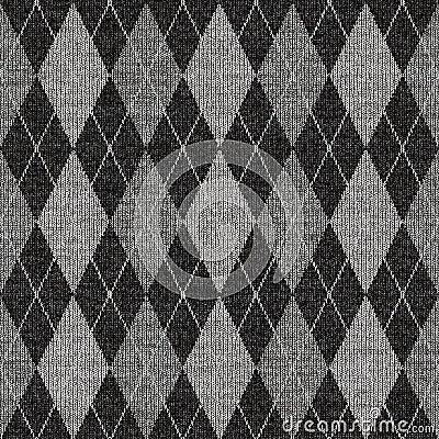 Grey tartan knitwork pattern