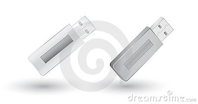 Grey USB Flash Drives