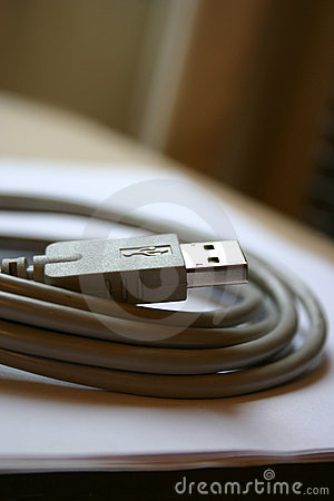 Free Grey USB Wire Stock Images - 460454