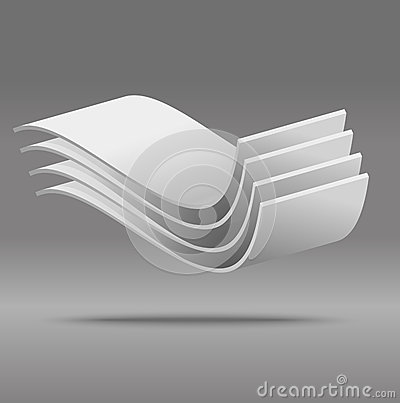 Grey Vector abstract 3D object