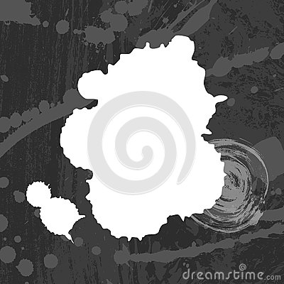 Grey and white blots background.