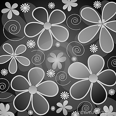 Grey and white flowers