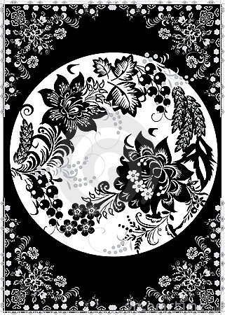 Greyscale floral decoration
