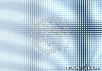 Grid blur background blue