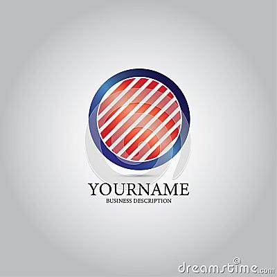 Grid At Circular Template Logo Stock Photo