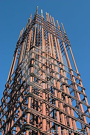 Grid of steel