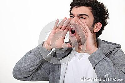 Gridare dell uomo