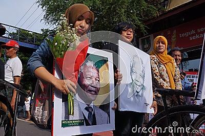 Grief for Mandela Editorial Stock Image