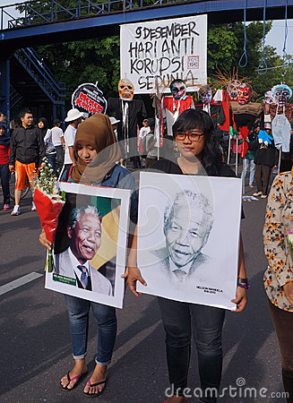 Grief for Mandela Editorial Photo