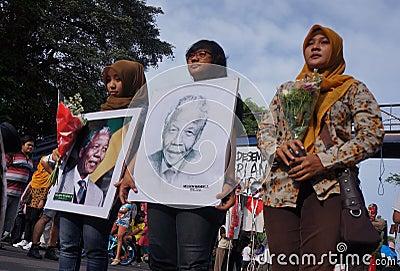 Grief for Mandela Editorial Image