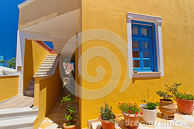 Griekse architectuur van eiland Santorini