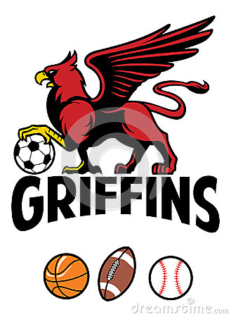 Griffin Greek Mythology Creature Sport Mascot Stock Vector