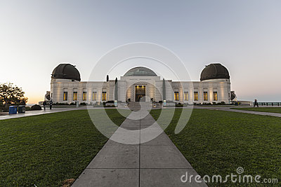 Griffith Oberservatory Before Dawn Editorial Stock Photo