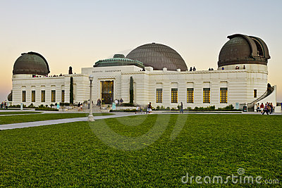 Griffith Observatory in Los Angeles Editorial Stock Photo