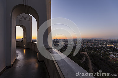 Griffith Observatory Sunrise Cityscape Editorial Photo
