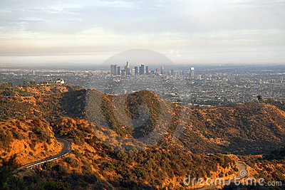 Griffith park and Los Angeles