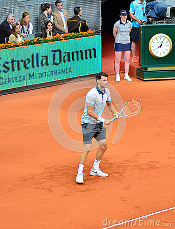 Grigor Dimitrov at the ATP Mutua Open Madrid Editorial Photography