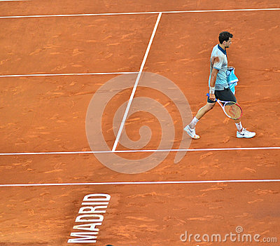 Grigor Dimitrov at the ATP Mutua Open Madrid Editorial Stock Photo