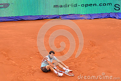 Grigor Dimitrov at the ATP Mutua Open Madrid Editorial Stock Image
