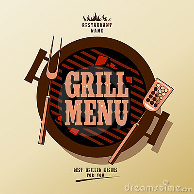 Free Grill Menu. Stock Images - 23299854