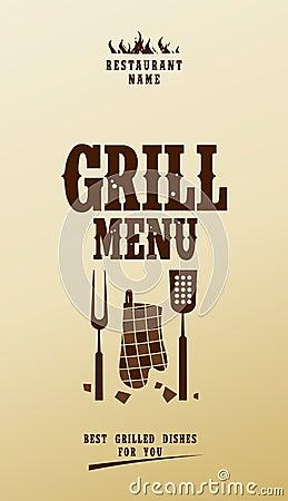 Grill menu.