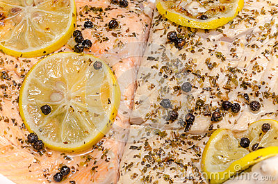 Grill Salmon And Carp