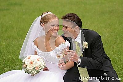 Grillage de mariée et de marié