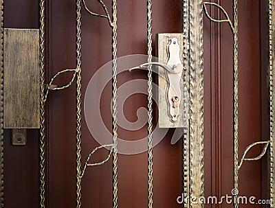 Grille gate, locks and door