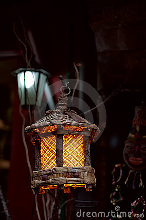 Grille wood lamp