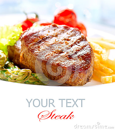Free Grilled Beef Steak Stock Photo - 30227790