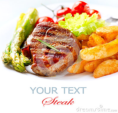 Free Grilled Beef Steak Royalty Free Stock Image - 30227816