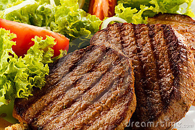 Grilled beefsteaks