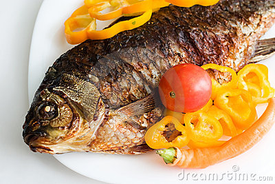 Grilled carp