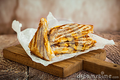 Grilled Cheese Sandwich Stock Photo - Image: 57785905
