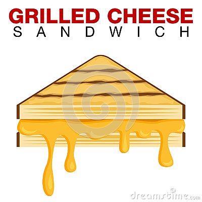 Free Grilled Cheese Sandwich Dripping Melting Cheese Isolated On Whit Stock Image - 109948201