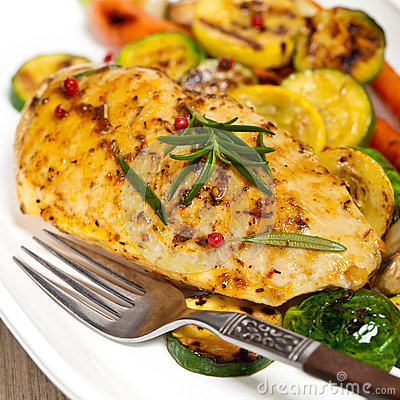 Free Grilled Chicken Breast Royalty Free Stock Photography - 36129267