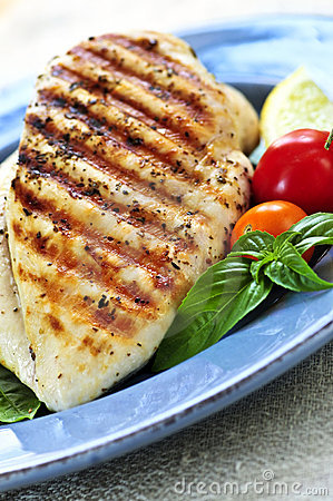 Free Grilled Chicken Breasts Royalty Free Stock Photos - 6614488