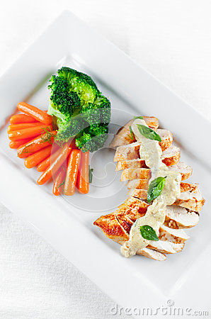 Grilled Chicken Brest with Veggies
